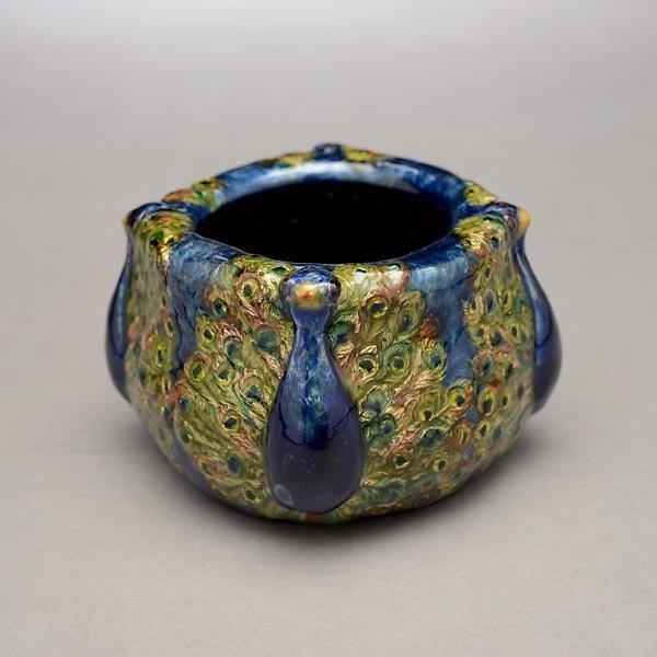 67: Tiffany Studios Peacock Bowl - 5