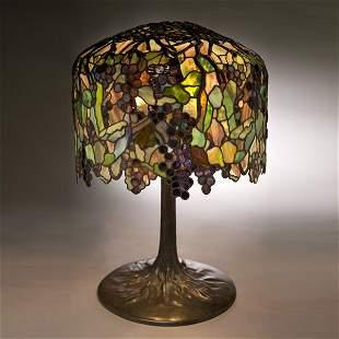 95: Tiffany Studios Elaborate Grape Table Lamp
