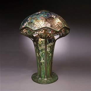 100: Tiffany Studios Cobweb Table Lamp