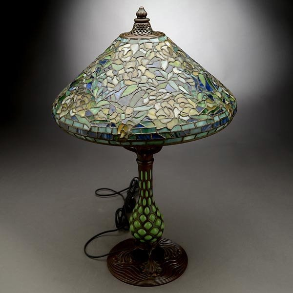 119: Tiffany Studios Rambling Rose Table Lamp - 6