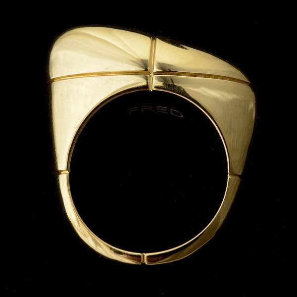 3001: FRED 18K GOLD RING.