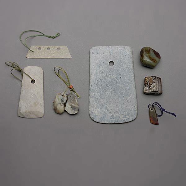 9003: Seven Neolithic Jade Blades & Pendants, Neolithic