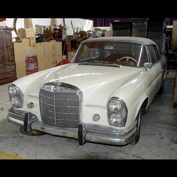 1: 1963 220SE Mercedes Convertible Coupe, , Mileage 101