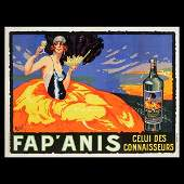 "66: DELVAL ""Fap'Anis"" Lithograph"