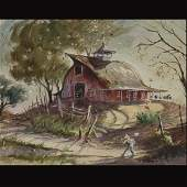 146 LaVere Hutchings 2 Sided Watercolor
