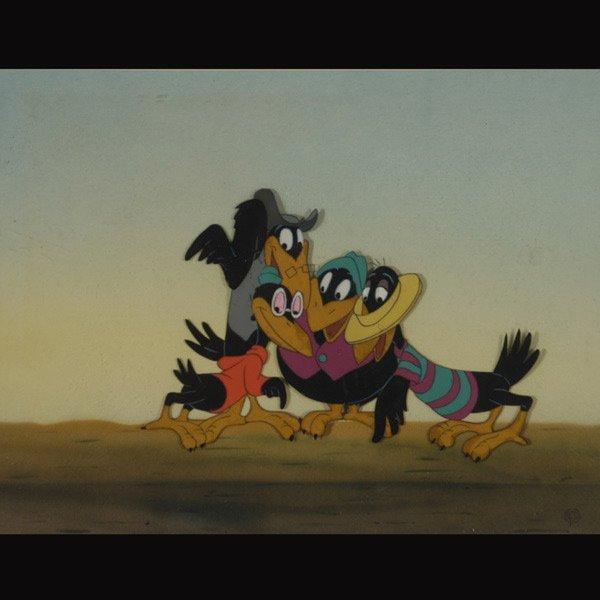 "158: Walt Disney Animation cel  ""Jim Crow from Dumbo"""