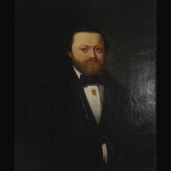 "2: LOZZIO  ""Portrait of a Gentleman, 1860""  Oil"