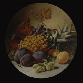 """3: Continental School  """"Still Life with Fruit"""""""