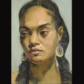"4: JEAN MASSON   ""Portrait of Mrs. Masson""  Oil"