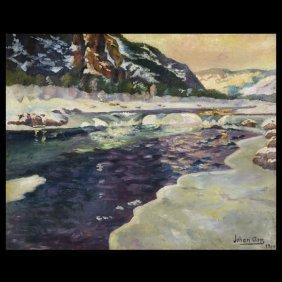 "8: JOHAN ASP  ""Glacial Melting, 1914""   Oil"