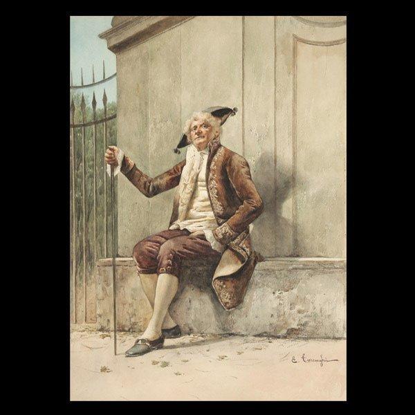 "12: ENRICO TARENGHI    ""A Gentleman Resting"""