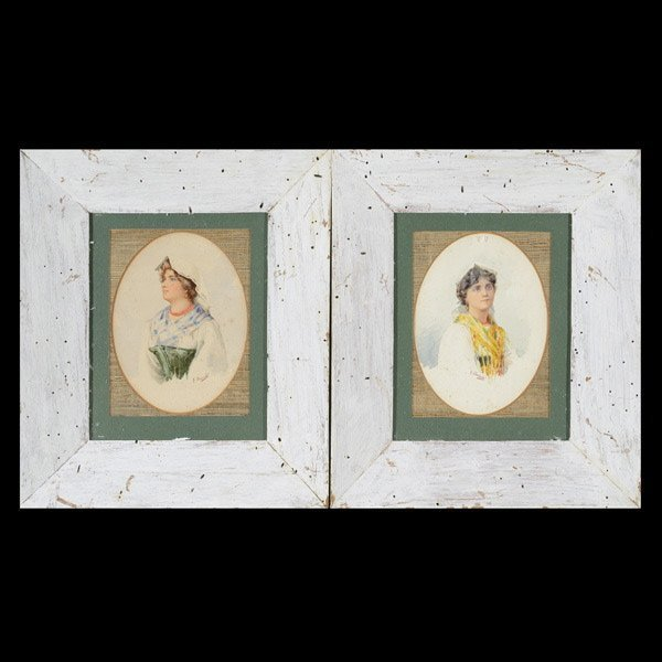 17: G. FACCIOLA  Two Portraits of Ladies
