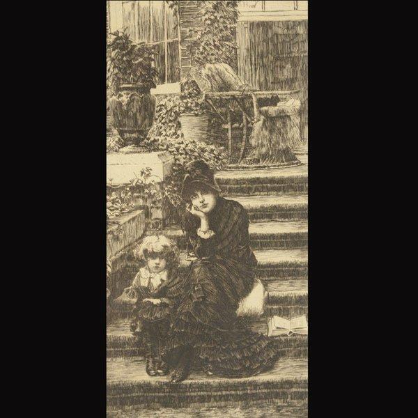 "23: JAMES JACQUES JOSEPH TISSOT  ""Reverie, 1880"""