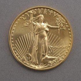 406: U.S. Gold Bullion $25 Uncirculated 1991.