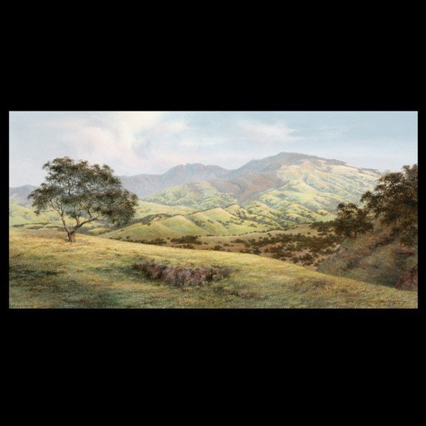 """JORGE MAYOL  """"Country Landscape"""" Oil on canvas"""