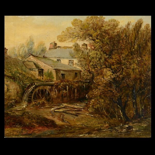"""CARPENTER  """"Cottage on the water""""  Oil"""