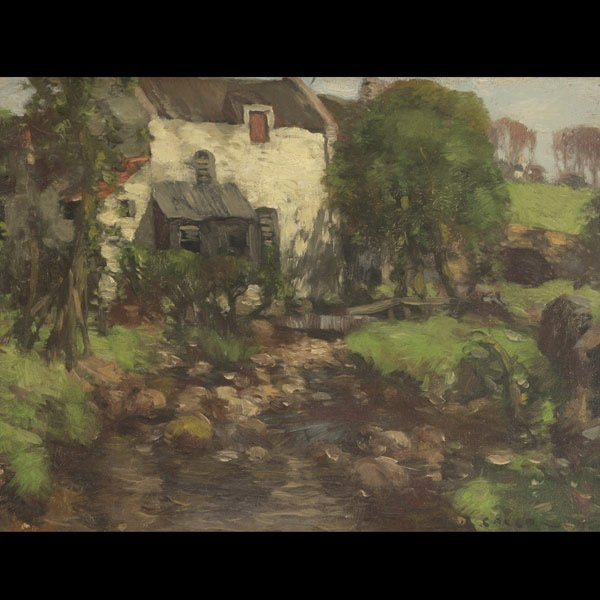 """DAVID GOULD   """"The Old Mill""""  Oil on canvas"""