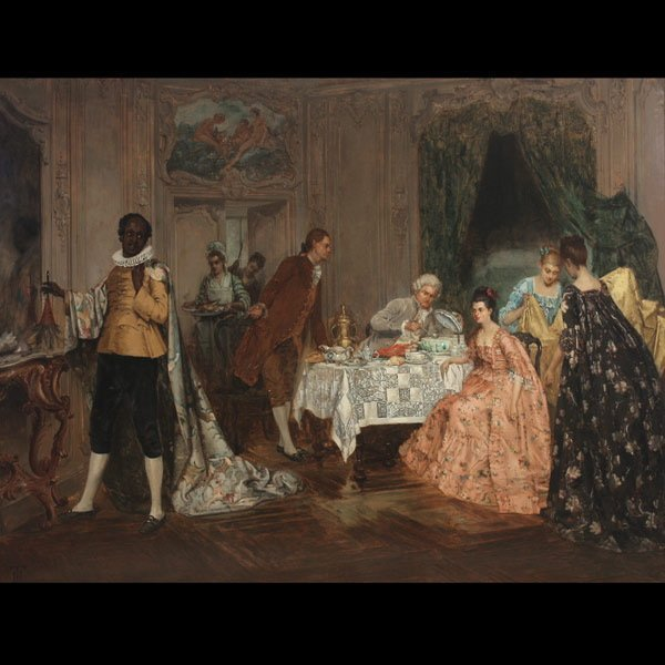 "HARRY THOMPSON  ""Aristocratic Dinner""  Oil"