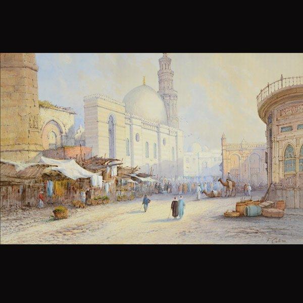 """FRANK CATANO  """"Market""""  Watercolor"""