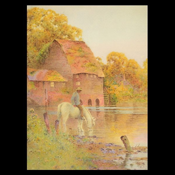 "JOHN LYNAS GRAY  ""Lingering Light""  Watercolor"
