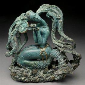 """JIANG TIE FEING  """"Mermaid, 1987""""  Bronze"""