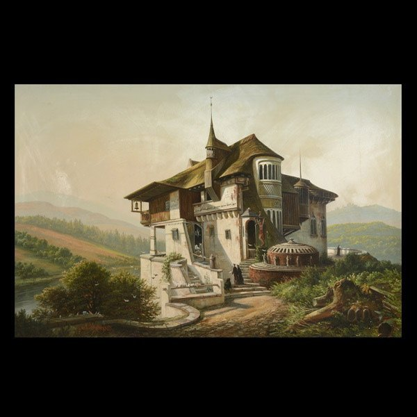 "FERDINAND RICHARDT  ""Ecumenical Architecture"" Oil"