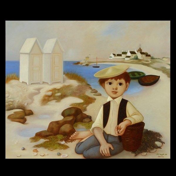 "Phillippe Noyer ""Garcon Ocean"" Oil"