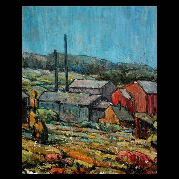 """ARMAND MONACO """"The Old Cider Mill, 1914""""  Oil"""