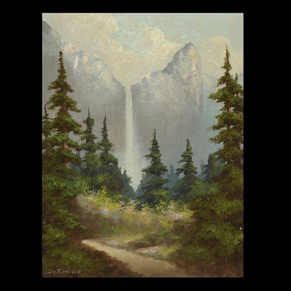 "RICHARD DETREVILLE   ""Bridalveil Fall, Yosemite"""