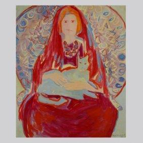 """GLORIA VANDERBILT  """"Medium with Familiar, 1965"""""""