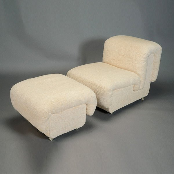 Paul Evans Chair and Ottoman.