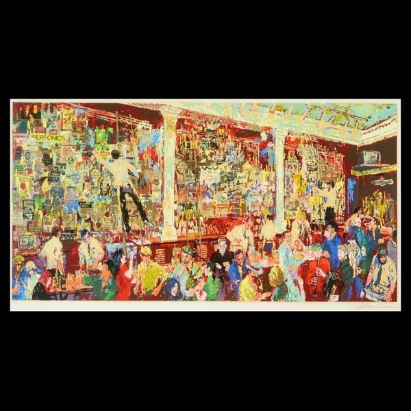 "LeRoy Neiman ""McRory's Whisky Bar"" Serigraph"