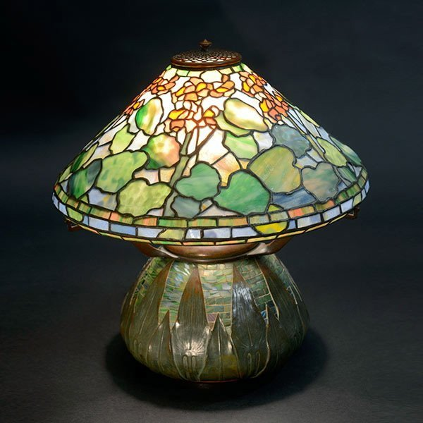 Tiffany Studios Geranium Table Lamp.