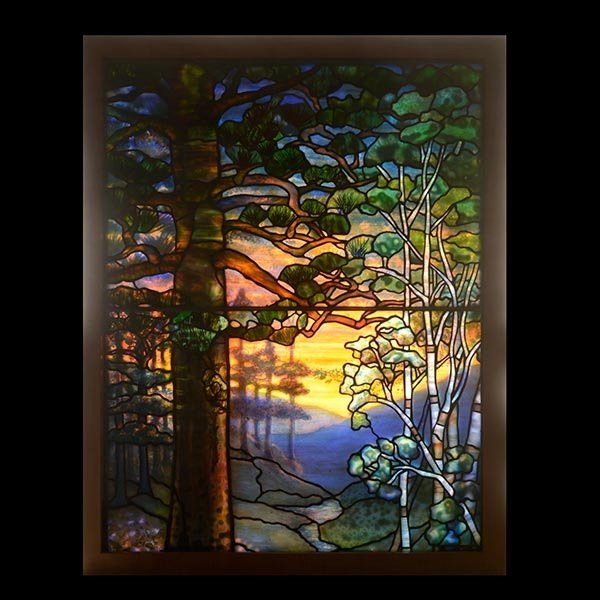Tiffany Studios Landscape Window