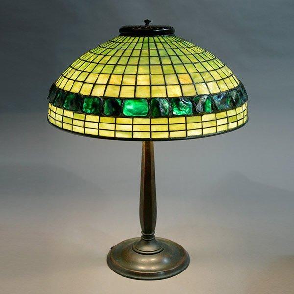Tiffany Studios Banded Turtleback Table Lamp.