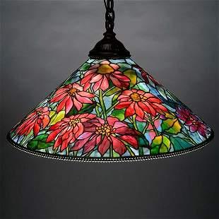 Tiffany Studios Poinsettia Chandelier.