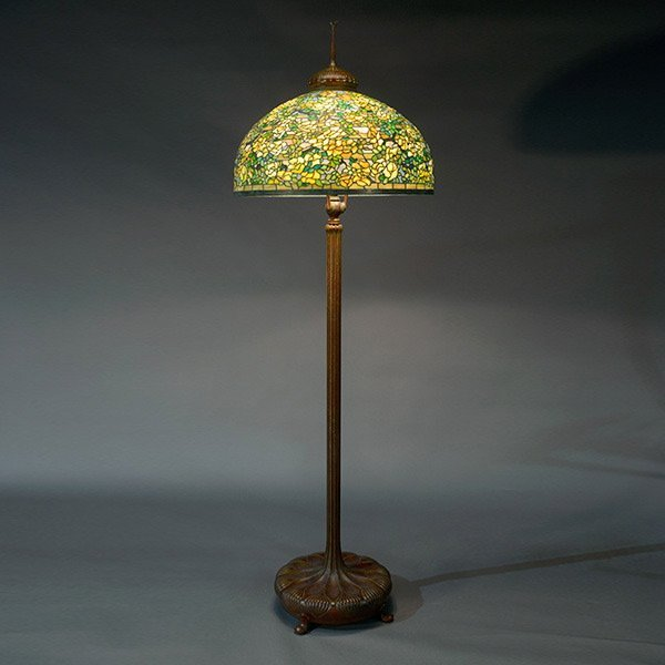 Tiffany Studios Yellow Rose Floor Lamp.