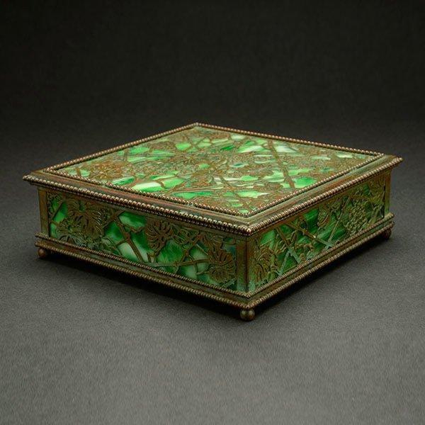 Tiffany Desk Set Box in the Grapevine Pattern