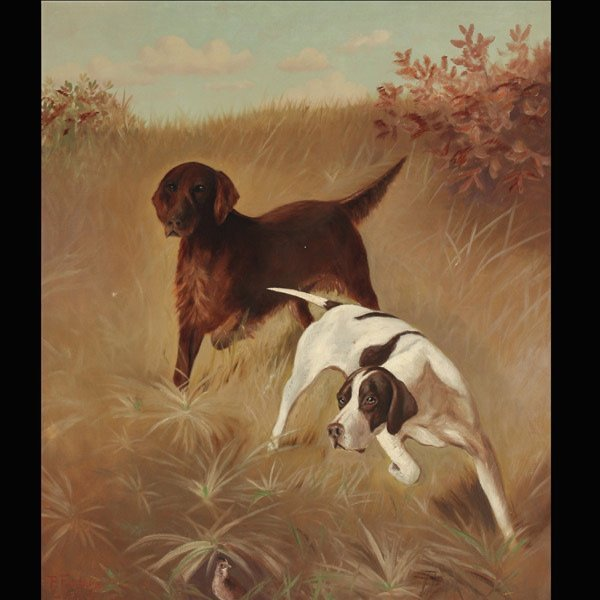 """PAUL FONTAINE  """"Setters on Point""""   Oil"""