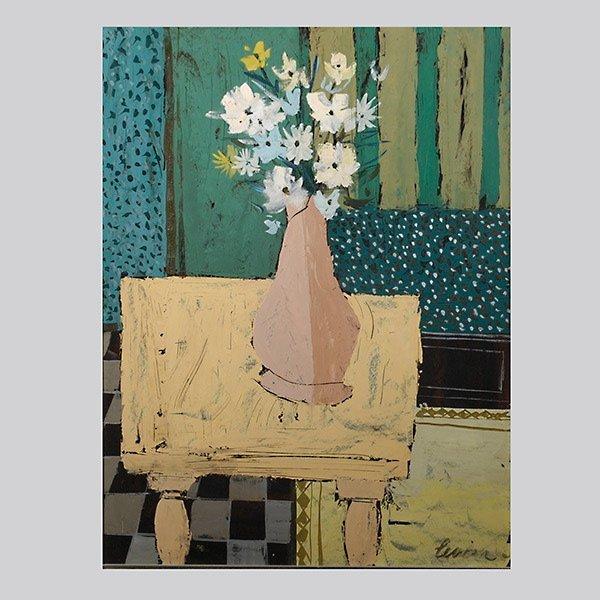 "CHARLES LEVIER ""Floral Still Life""  Oil"