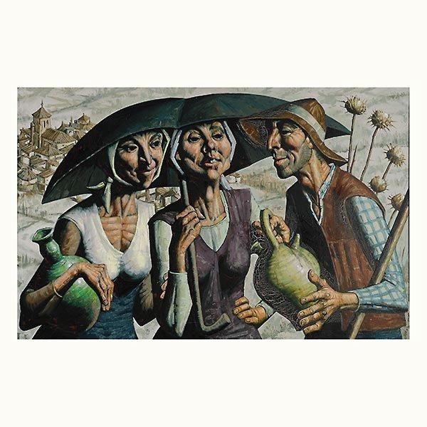 """JESUS VILLAR  """"Los Viajeros""""  Oil"""