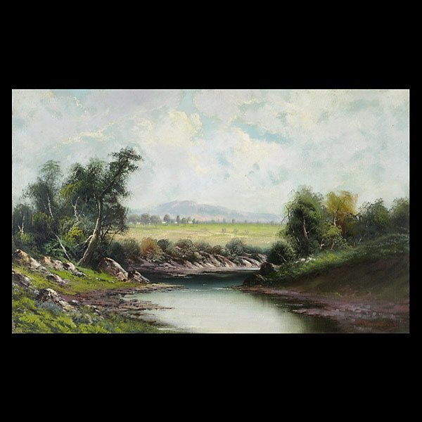 "WILLIAM WEAVER ARMSTRONG ""Riverbed Landscape"""