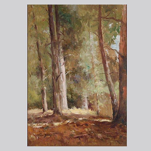 "Arthur Beckwith ""Redwood Grove"" Oil"