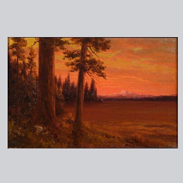 """Frank Willson Judd """"Sunset over Lake Almanor"""" Oil"""