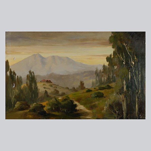 "Jean Pfister ""Mt. TaMaipais, 1910"" Oil"