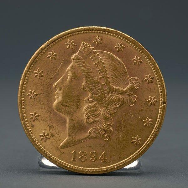 1894 US Twenty Dollar Gold Coin VF Condition