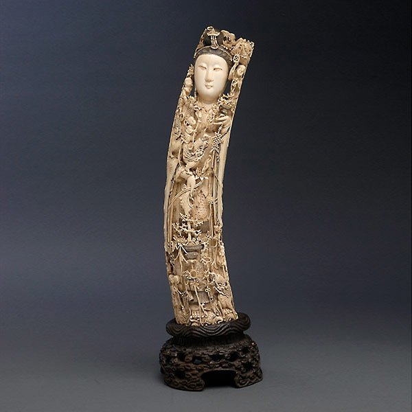 An Ivory Carving of a Female Immortal*, Circa 1900