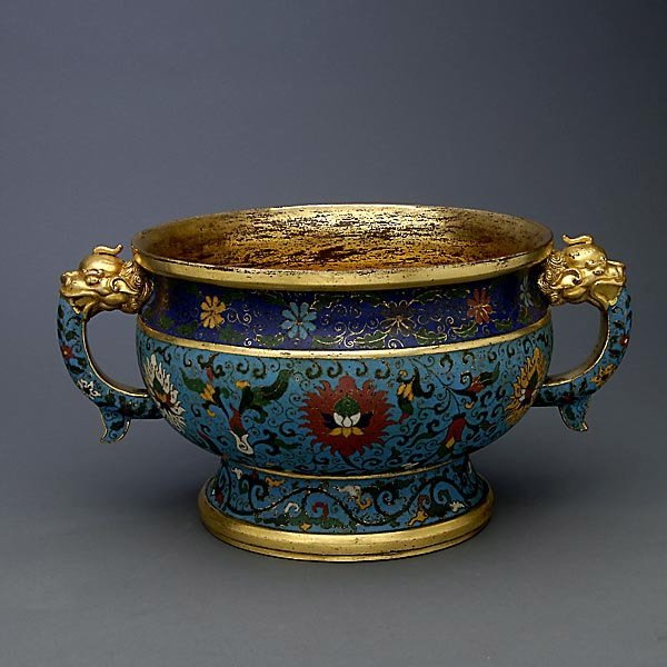 A CloisonnÄ Enamel & Gilt Bronze Censer, 17th C.
