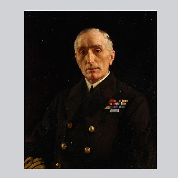 HAROLD KNIGHT   Portrait of Admiral Edwyn Sinclair