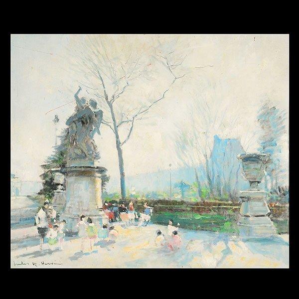 JULES RENE HERVE   Tuileries- Pavillon de Flore